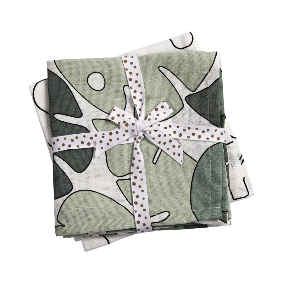 Done by Deer Tiny Tropic Swaddle 2-pack