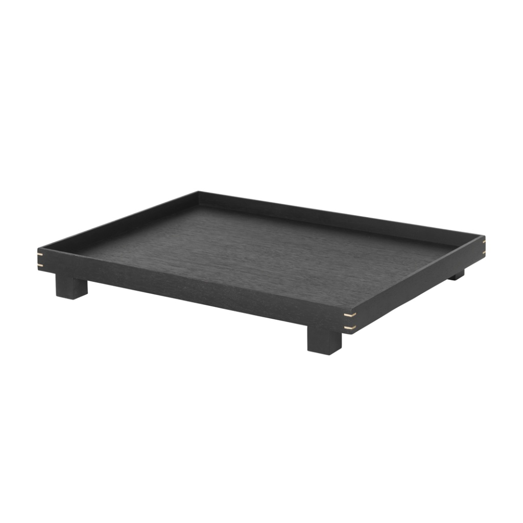 Ferm Living Bon Wooden Tray Black Large