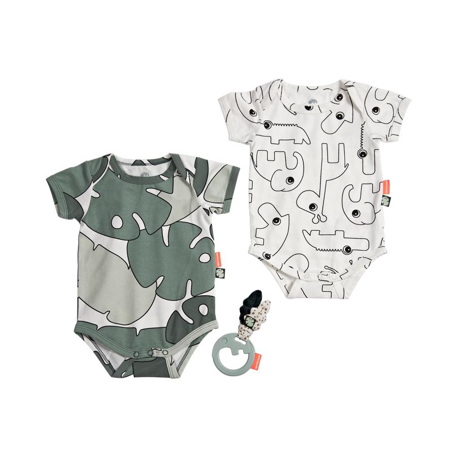 Done by Deer Tiny Tropic Presentförpackning Skallra & Body 56/62