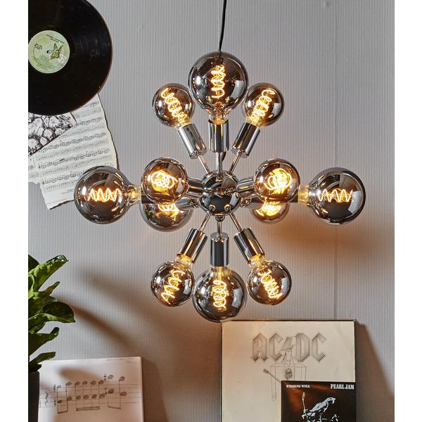 Ljuskälla LED-lampa E27 4 W Smoke Glas 125 mm