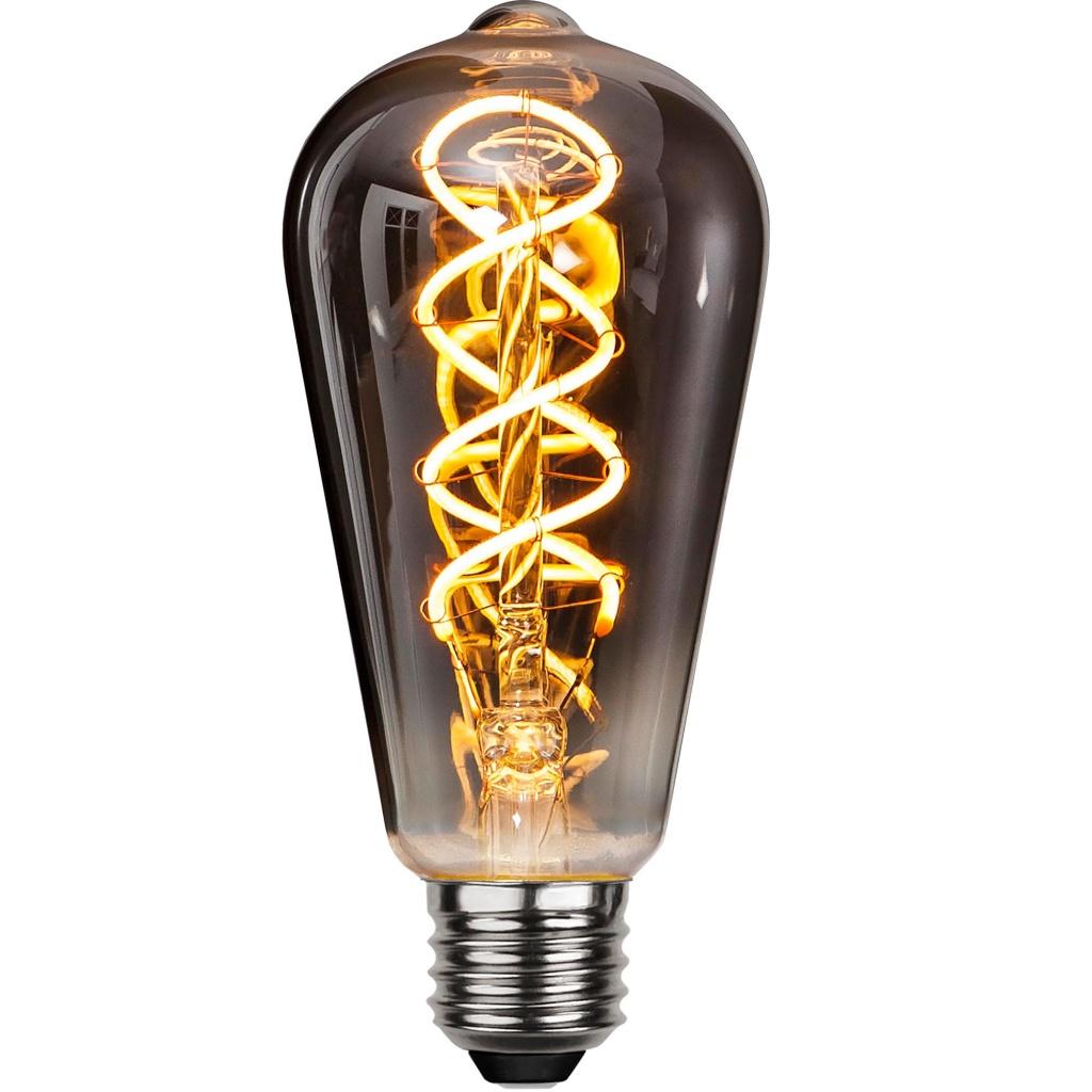 Ljuskälla LED-lampa E27 4 W Smoke Glas