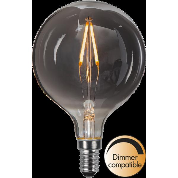 Ljuskälla LED-lampa E14 1,4 W Smoke Glas 80mm