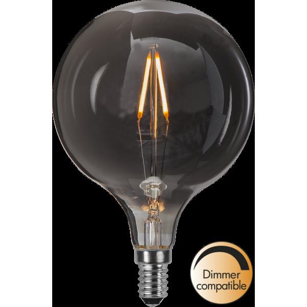 Ljuskälla LED-lampa E14 1,4 W Smoke Glas 95mm