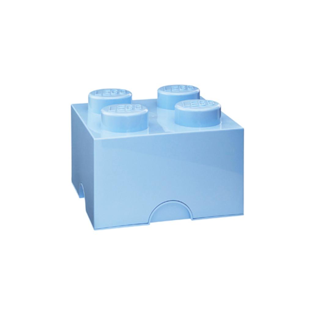 LEGO Förvaring Låda 4 Ljusblå