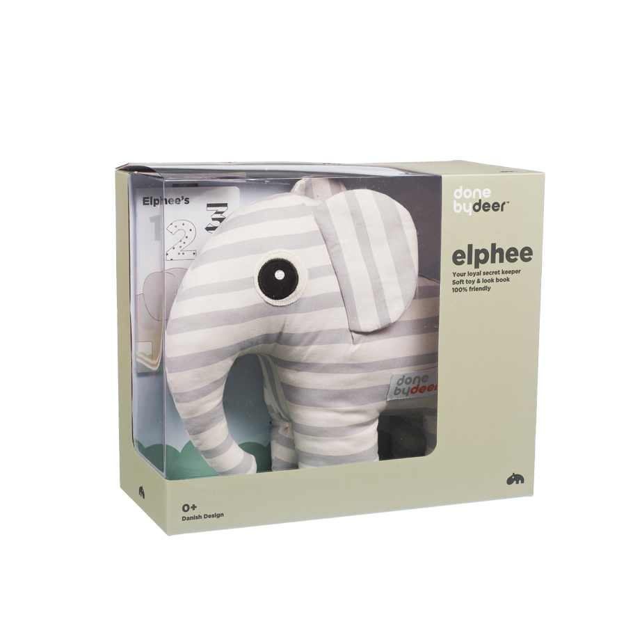 Done by Deer Soft Toy 3D Elephant
