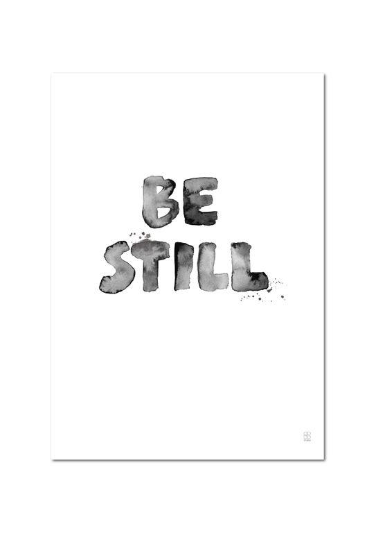 SB Studio Poster A3 Be still