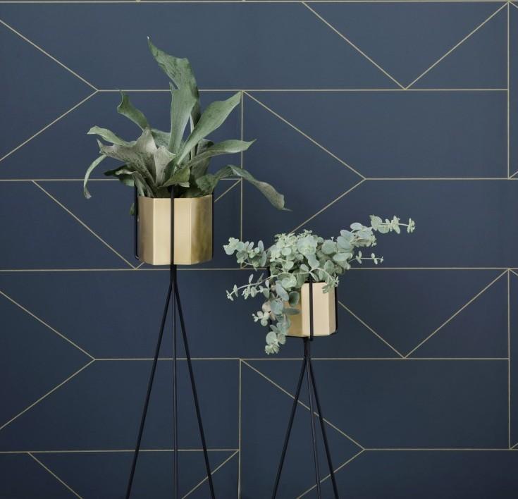 Ferm Living Hexagon Pot 18X14cm