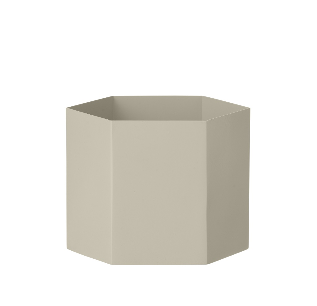 Ferm Living Hexagon Pot Grey Extra Large