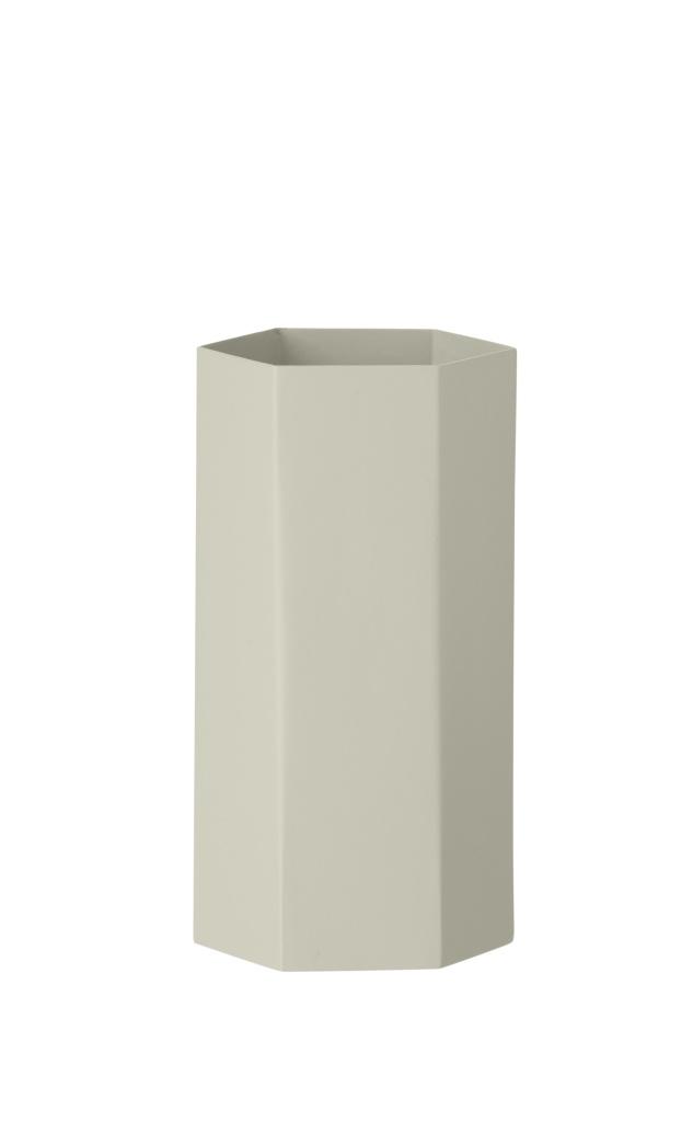Ferm Living Hexagon Vase Grey
