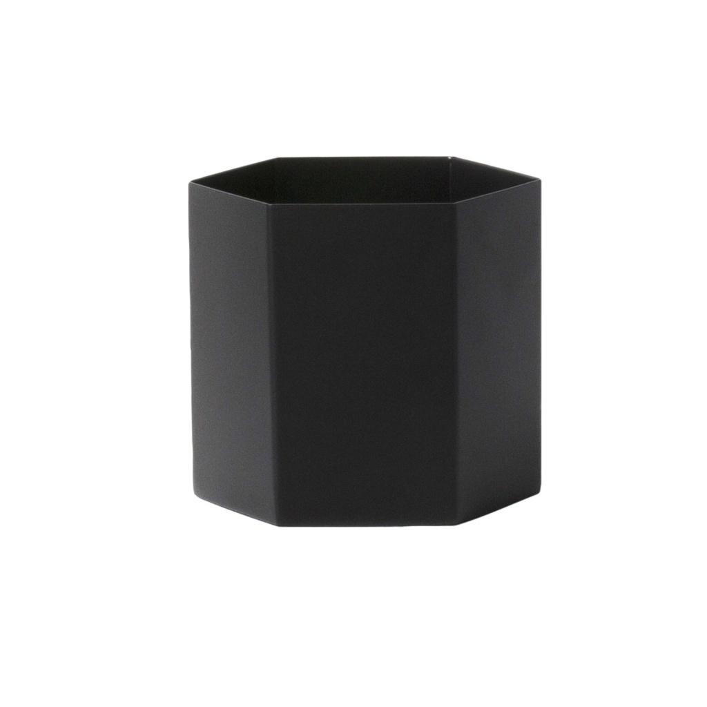 Ferm Living Hexagon Pot Black Large