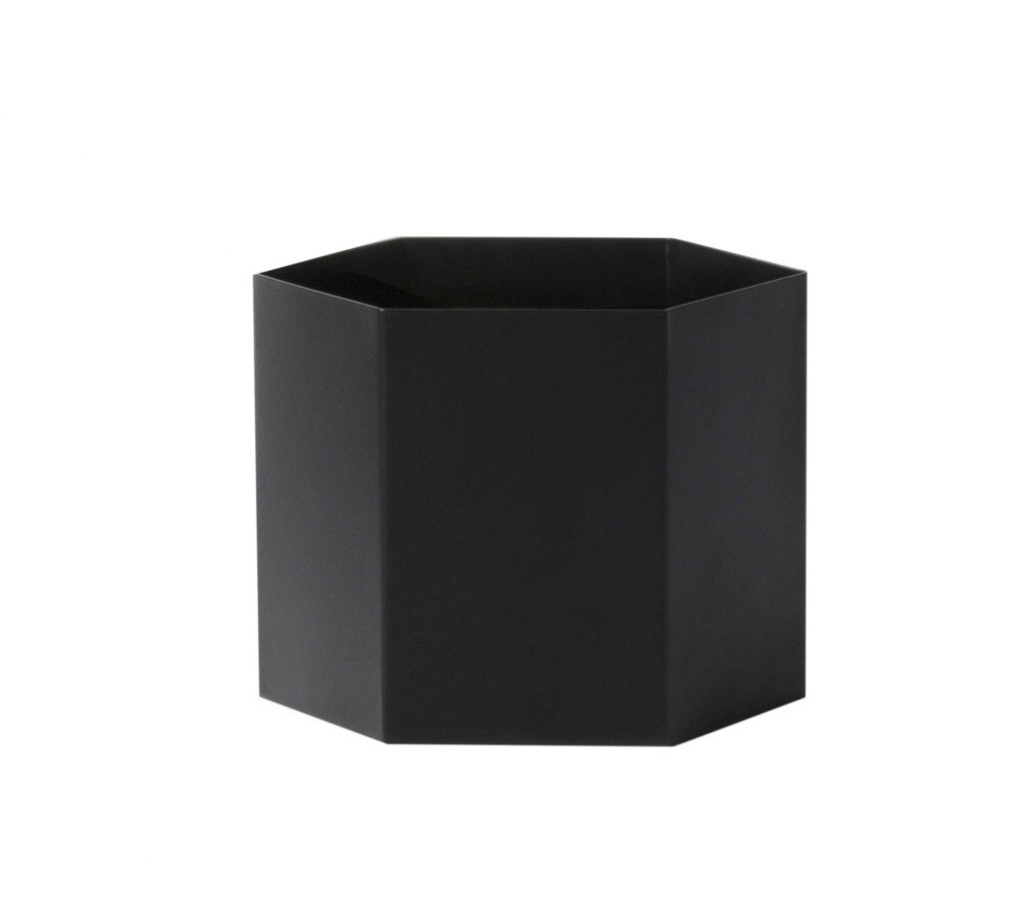Ferm Living Hexagon Pot Black Extra Large