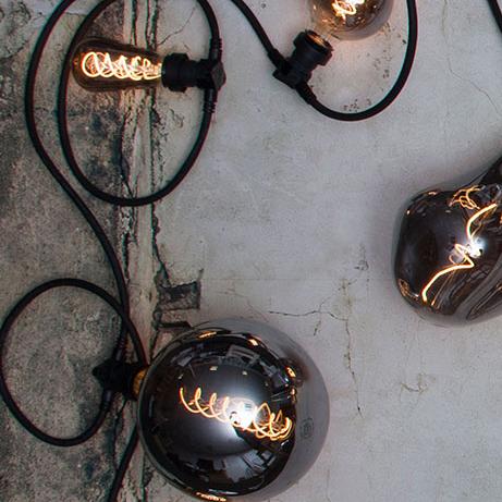 Ljuskälla LED-lampa E27 3,8 W Smoke Glas 165mm