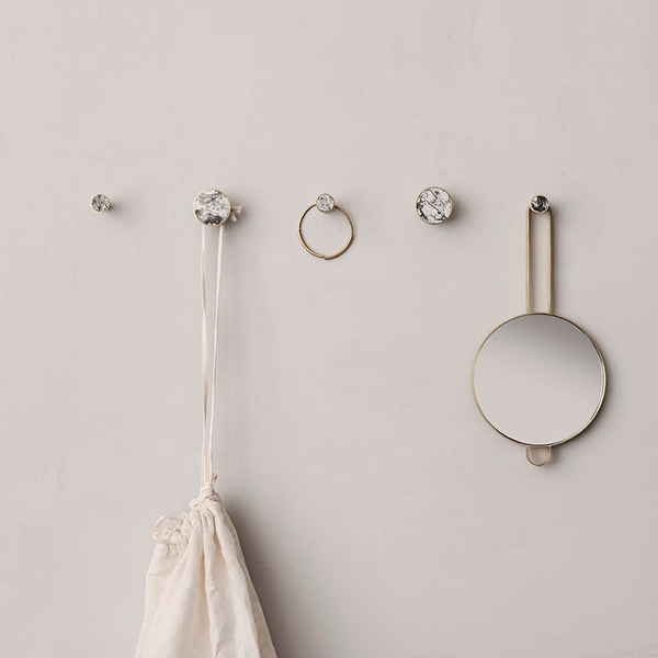 Ferm Living Hook Stone Large White Marble