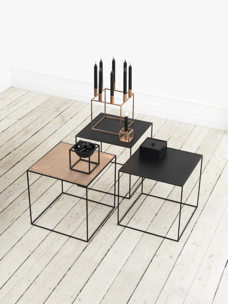 By Lassen Twin table svart/koppar