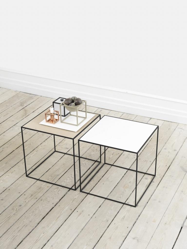 By Lassen Twin table vit/ek