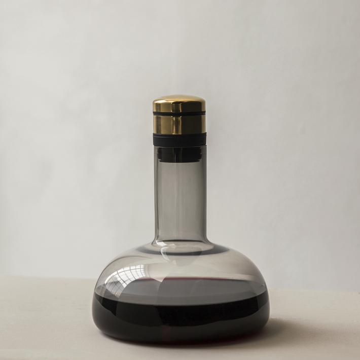 Menu Wine Breather Smoke Brass