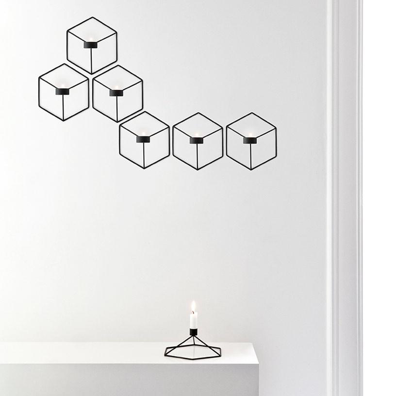 Menu POV Candleholder Wall Black
