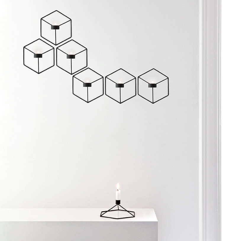 Menu POV Candleholder Wall White