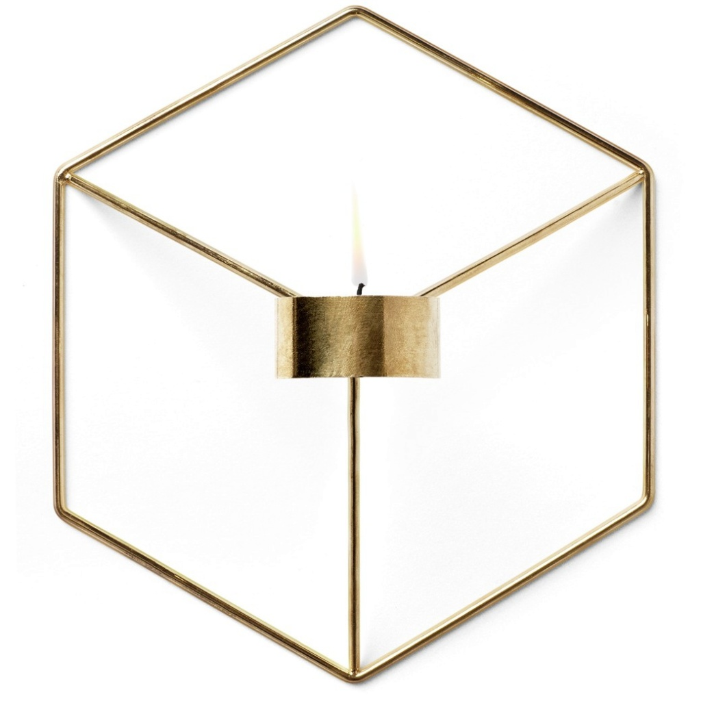 Menu POV Candleholder Wall Brass