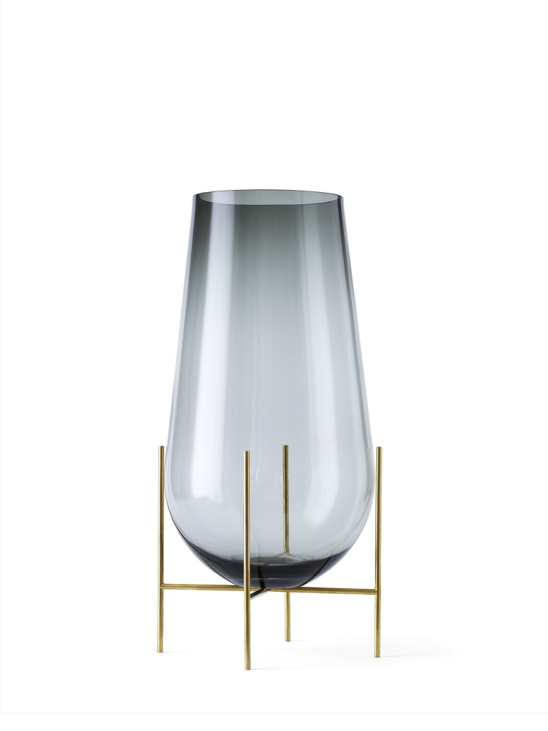 Menu Echasse Vase Smoke Brushed Brass Small