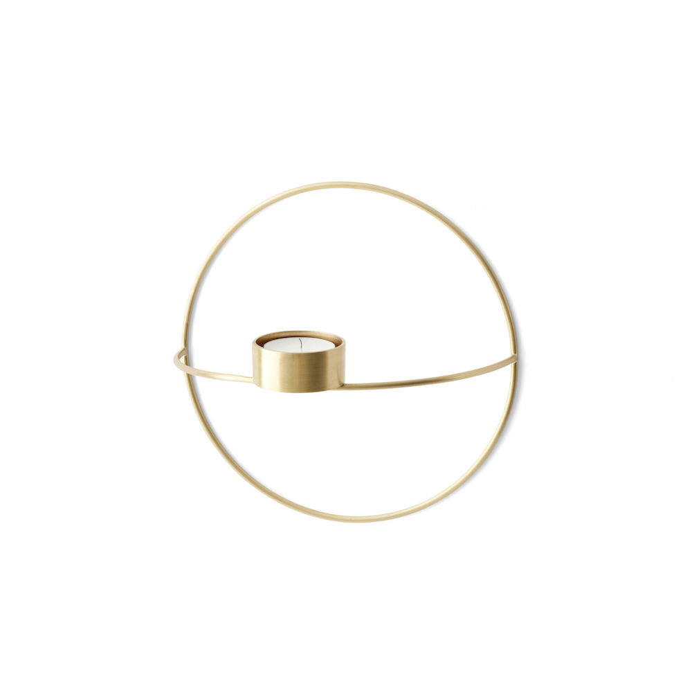Menu POV Circle Tealight Candleholder S Brass