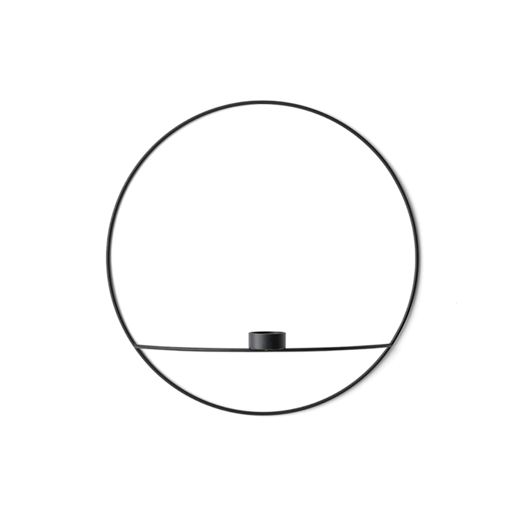 Menu POV Circle Tealight Candleholder L Black