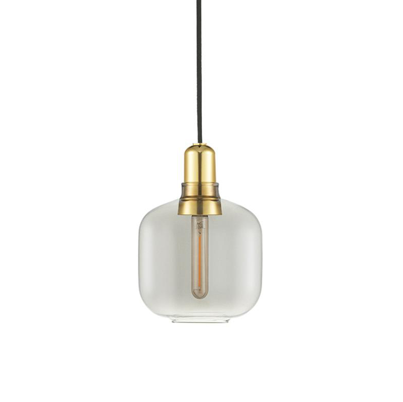 normann Copenhagen Amp Lampe Smoke/brass Small
