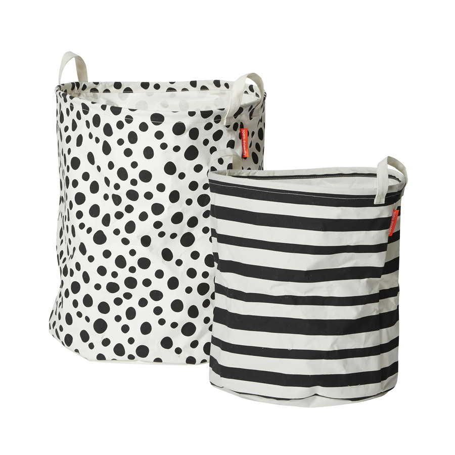 Done by Deer Soft Storage basket Black 2-pack