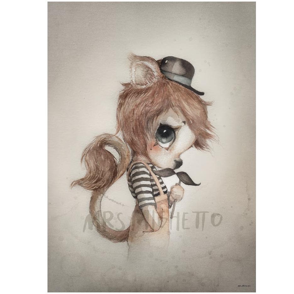 Mrs Mighetto Poster 50x70 cm MR Elliott