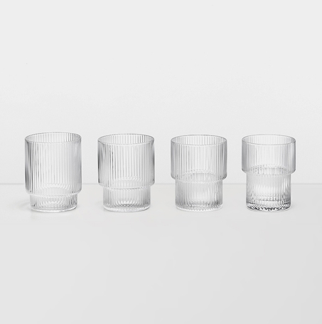 Ferm Living Ripple Glas 4-pack