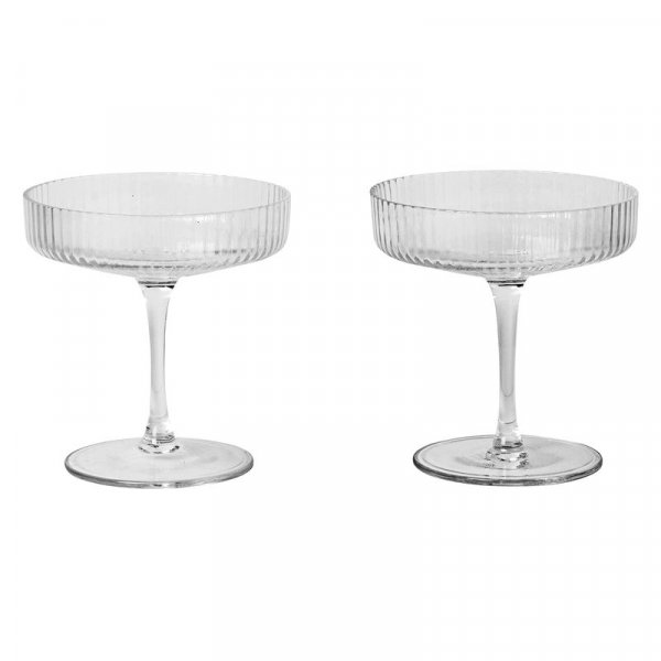 Ferm Living Ripple Champagne Saucer 2-pack
