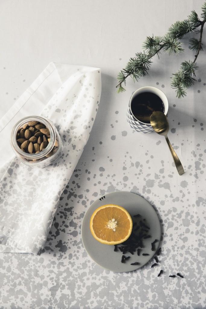 Ferm Living Splash Table Cloth Grey 140x240 cm