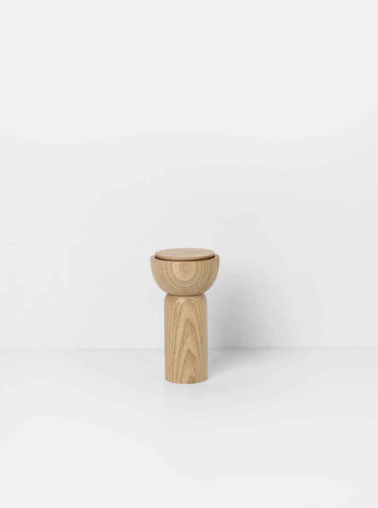 Ferm Living Drupe Mill Kryddkvarn Natural Ash