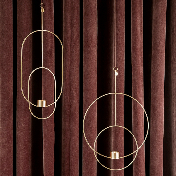 Ferm Living Hanging Tealight Deco Circular Brass