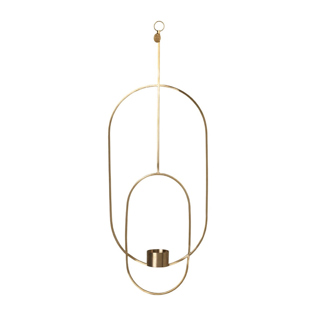Ferm Living Hanging Tealight Deco Oval Brass