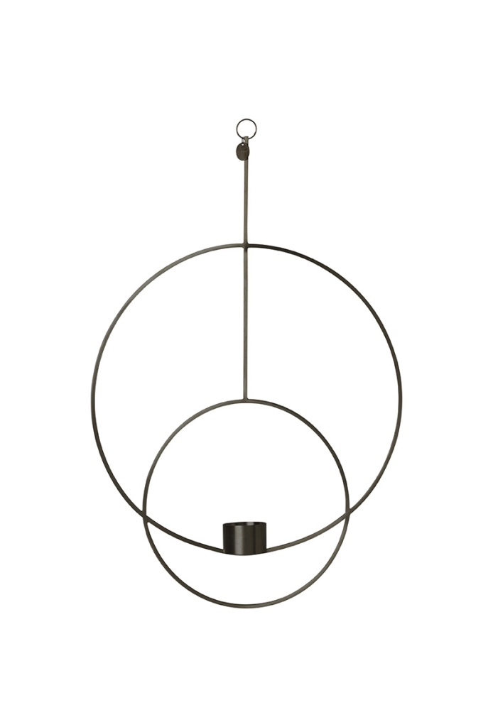 Ferm Living Hanging Tealight Deco Circular Black