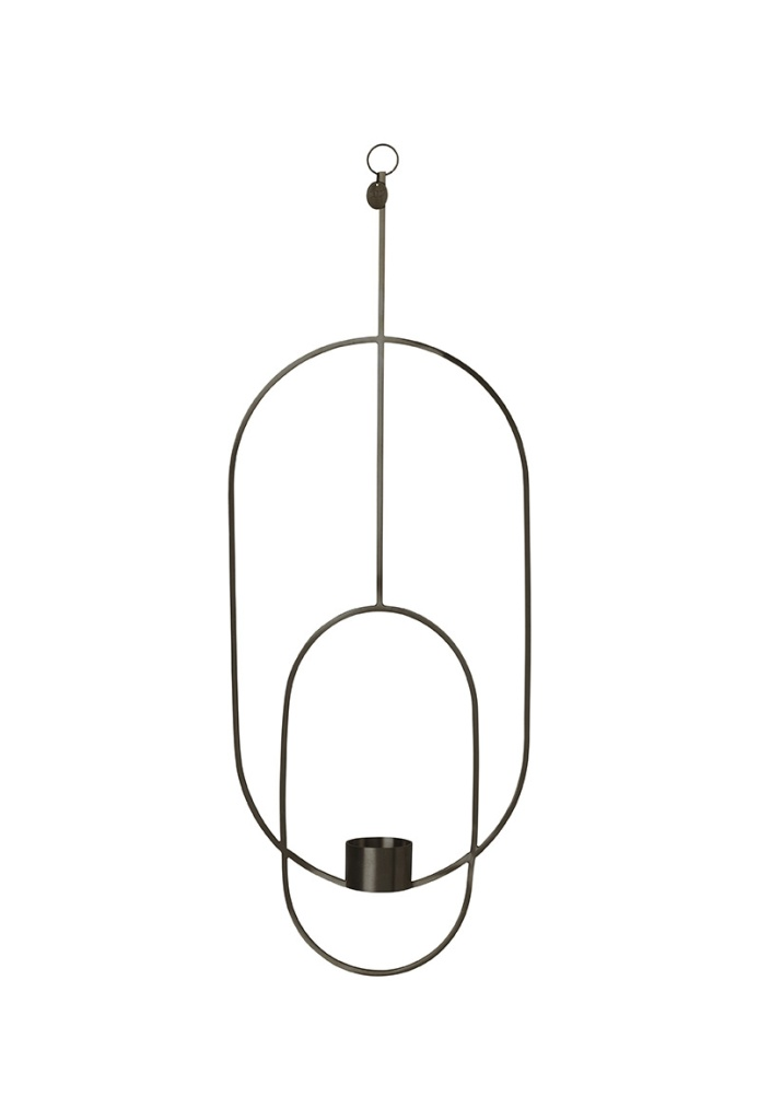 Ferm Living Hanging Tealight Deco Oval Black