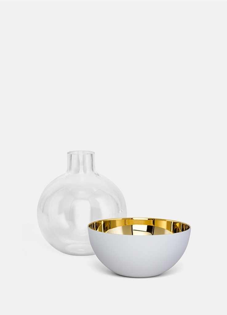 Skultuna Pomme Vas & Candle holder White