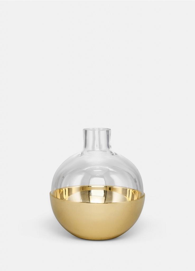 Skultuna Pomme Vas & Candle holder Brass