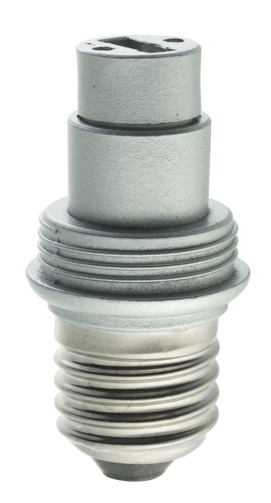 Ljuskälla Adapter E27 Silver