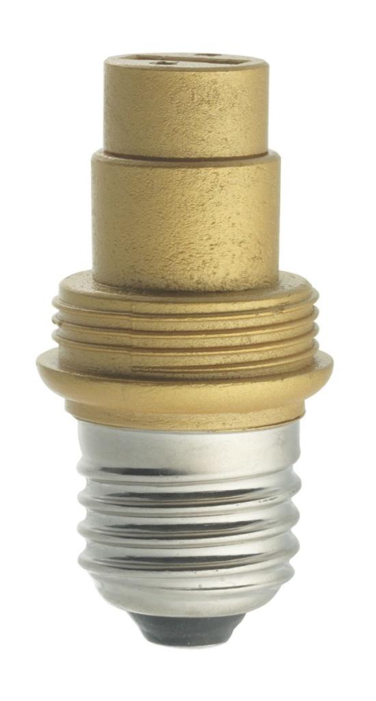 Ljuskälla Adapter E27 Guld