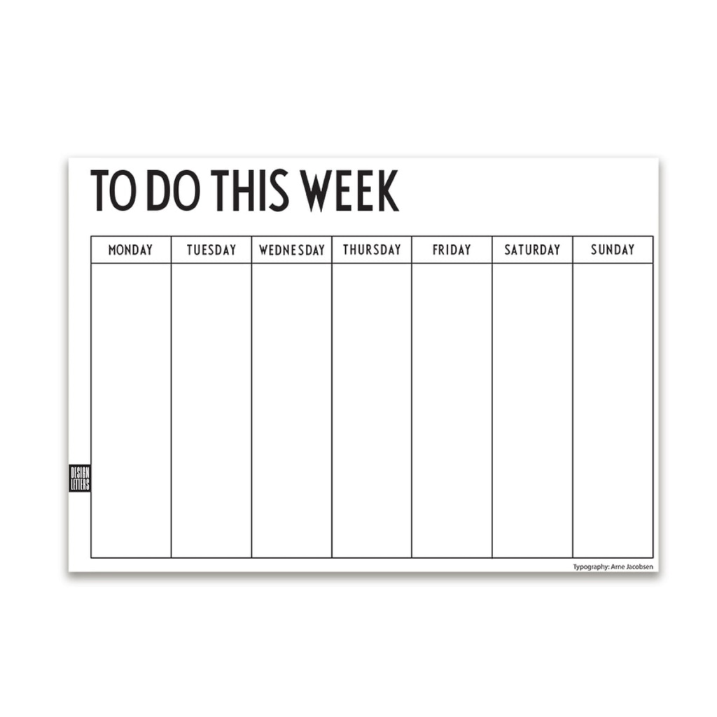 Design Letters Weekly Planner A4