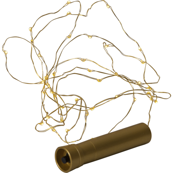 Star Trading Batterislinga 40 ljus Brass
