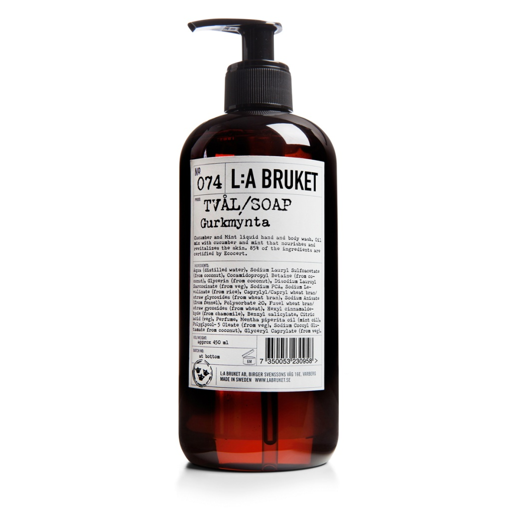 L:a Bruket Flytande tvål Gurkmynta 450 ml