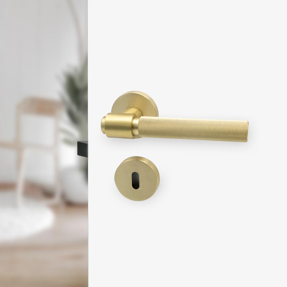 Beslag Design Toalettvred Borstad Mässing