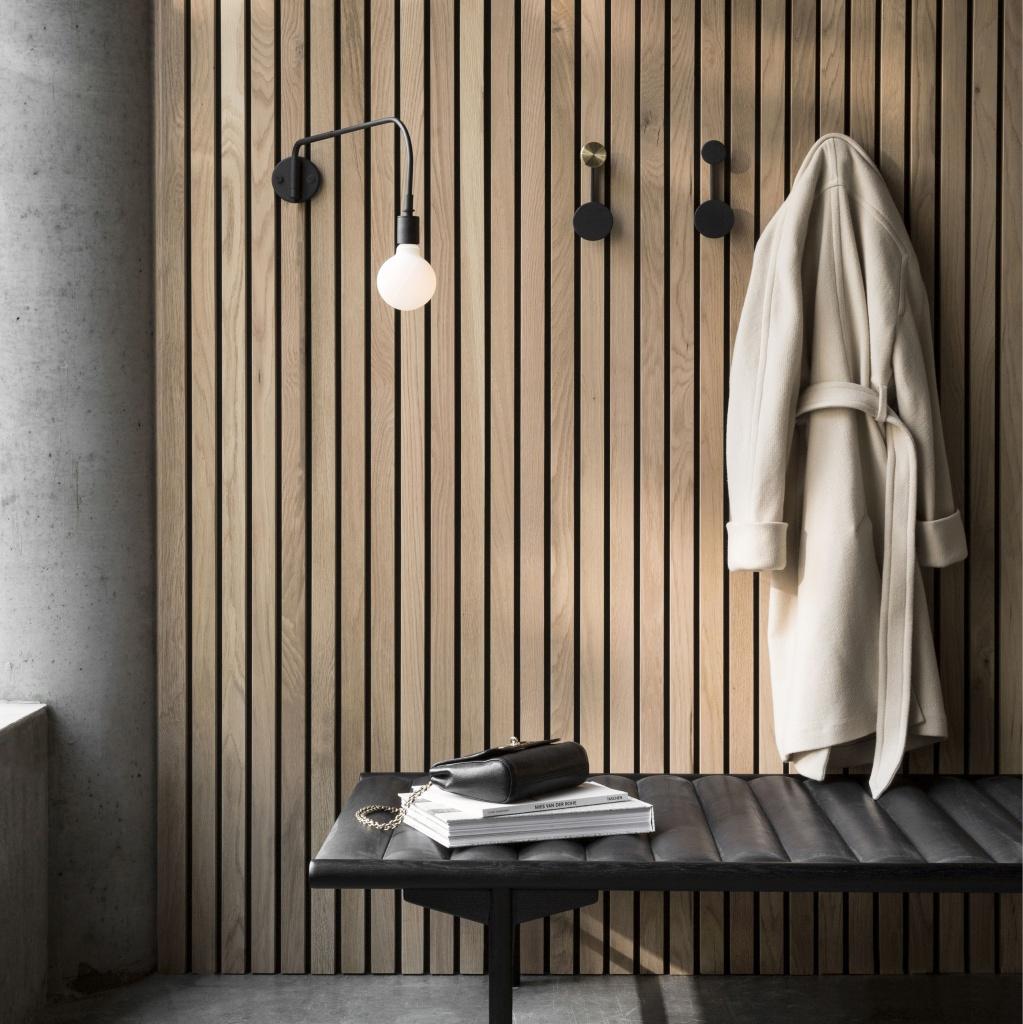Menu Afteroom Coat Hanger Black/Brass