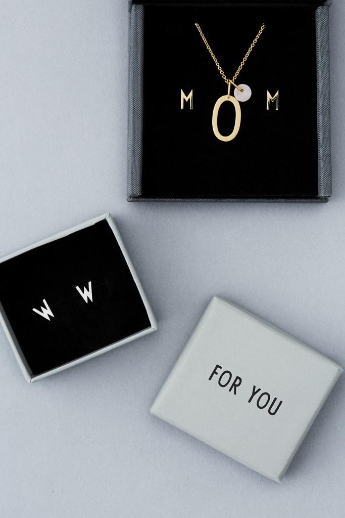 Design Letters Örhänge Guld Bokstav