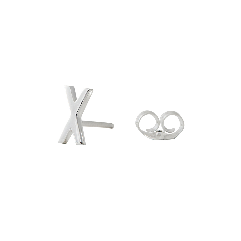 Design Letters Örhänge Silver Bokstav X