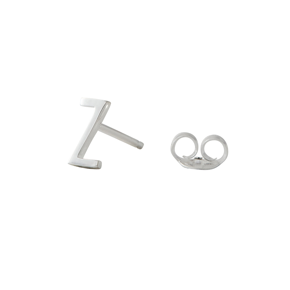 Design Letters Örhänge Silver Bokstav Z