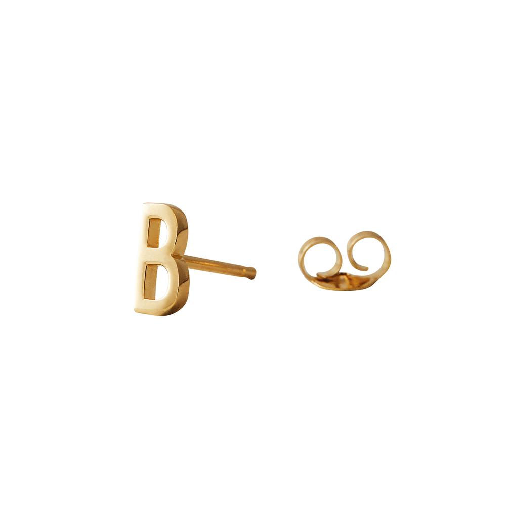 Design Letters Örhänge Guld Bokstav B